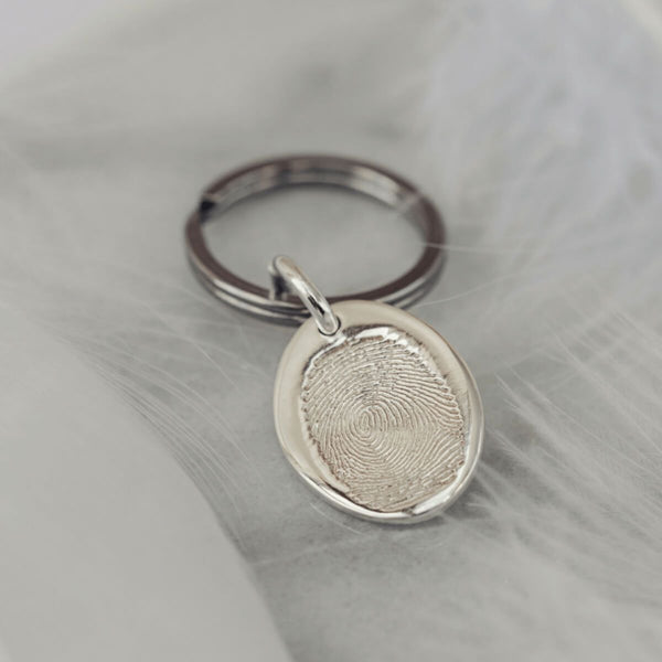 Memorial Fingerprint Keyring