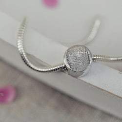 Memorial Fingerprint Charm Bead