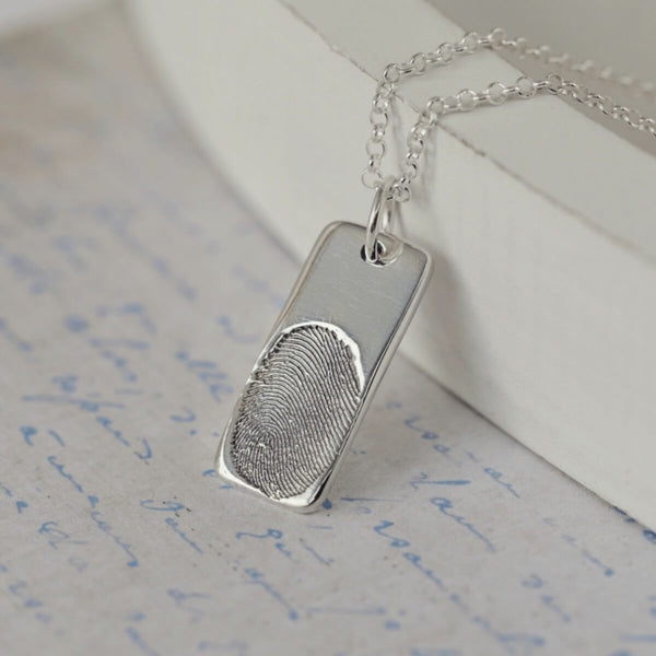 Memorial Fingerprint Necklace