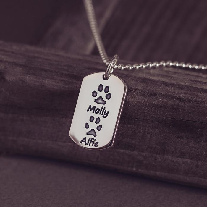 Pawprint Dog Tag