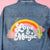 Love Magic Cactus Rainbow Custom Jean Jacket Custom Chainstitch Embroidery Embroidered Daily Disco Jacket