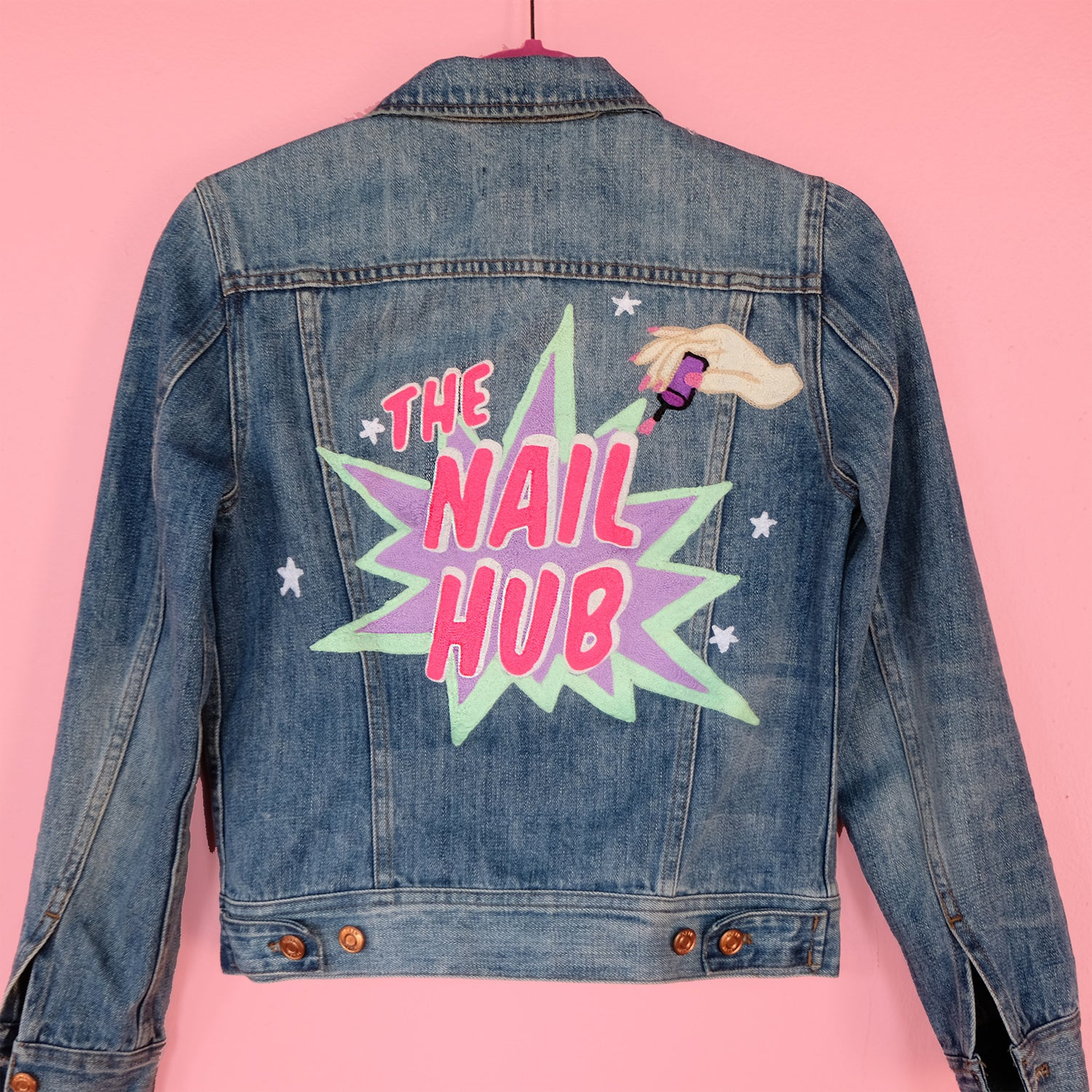 Custom Brand Custom Chainstitch Embroidery Embroidered Daily Disco Jacket