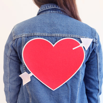 Custom Heart Back Patch - Daily Disco