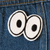 Cartoon Eyes Chainstitch Embroidered Patch - Abbey Eilermann