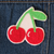 Cherry Chainstitch Embroidered Patch - Abbey Eilermann