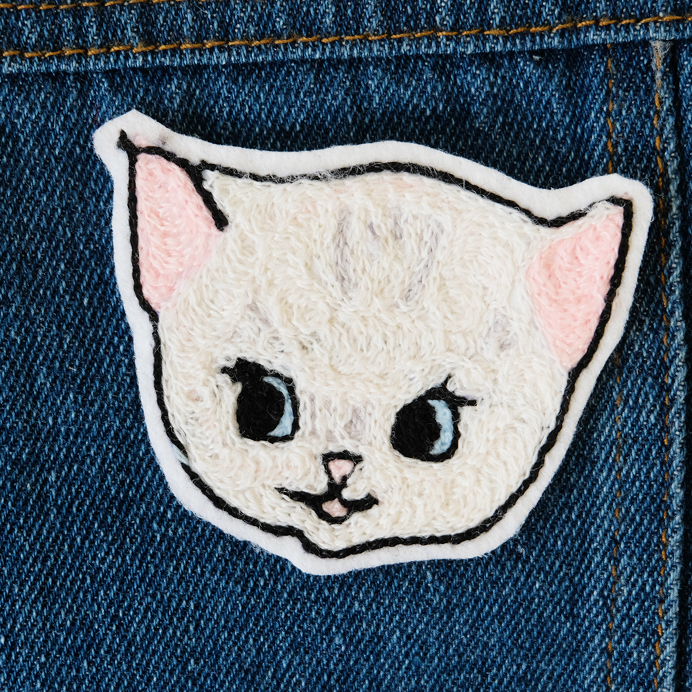 Kitten Chainstitch Embroidered Patch - Daily Disco