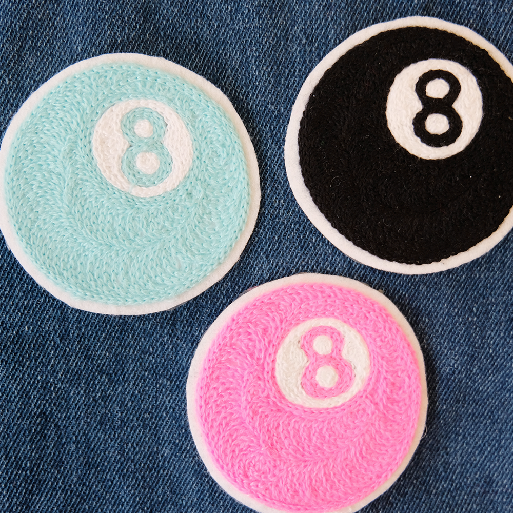 Eight Ball Chainstitch Embroidered Patch - Daily Disco