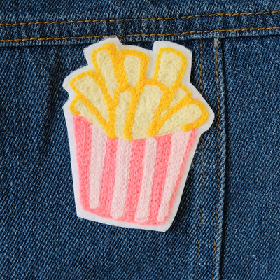 French Fry Chainstitch Embroidered Patch - Daily Disco