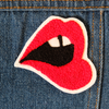 Mouth Chainstitch Embroidered Patch - Daily Disco