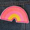 Rainbow Chainstitch Embroidered Patch - Daily Disco