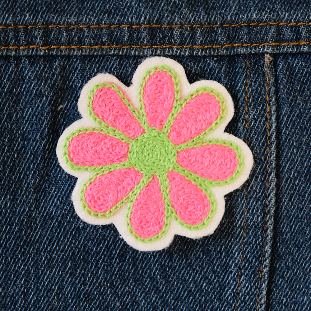 Daisy Chainstitch Embroidered Patch - Daily Disco