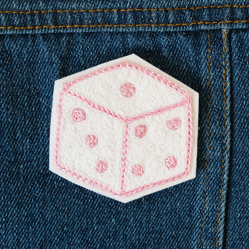 Dice Chainstitch Embroidered Patch - Abbey Eilermann