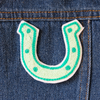 Horseshoe Chainstitch Embroidered Patch - Abbey Eilermann