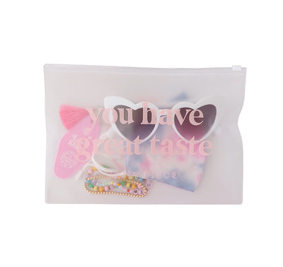 Large Frosted Zip Pouch - Daily Disco