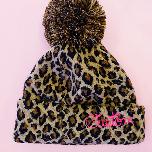 Personalized Leopard Beanie - Daily Disco
