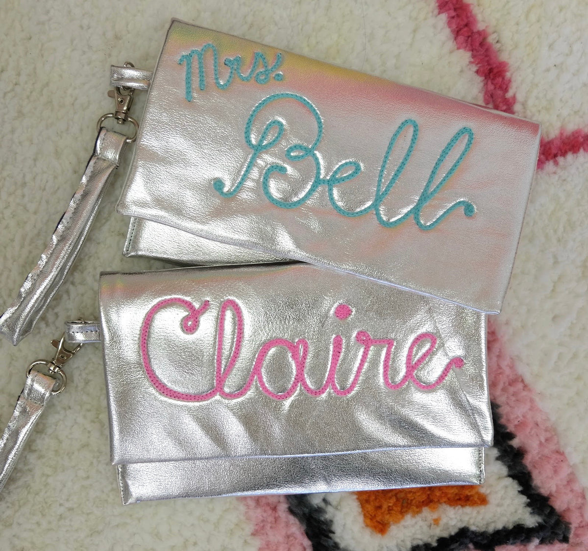 Personalized Metallic Clutch - Daily Disco