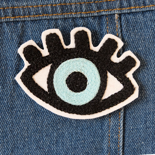 Evil Eye Chainstitch Embroidered Patch - Abbey Eilermann