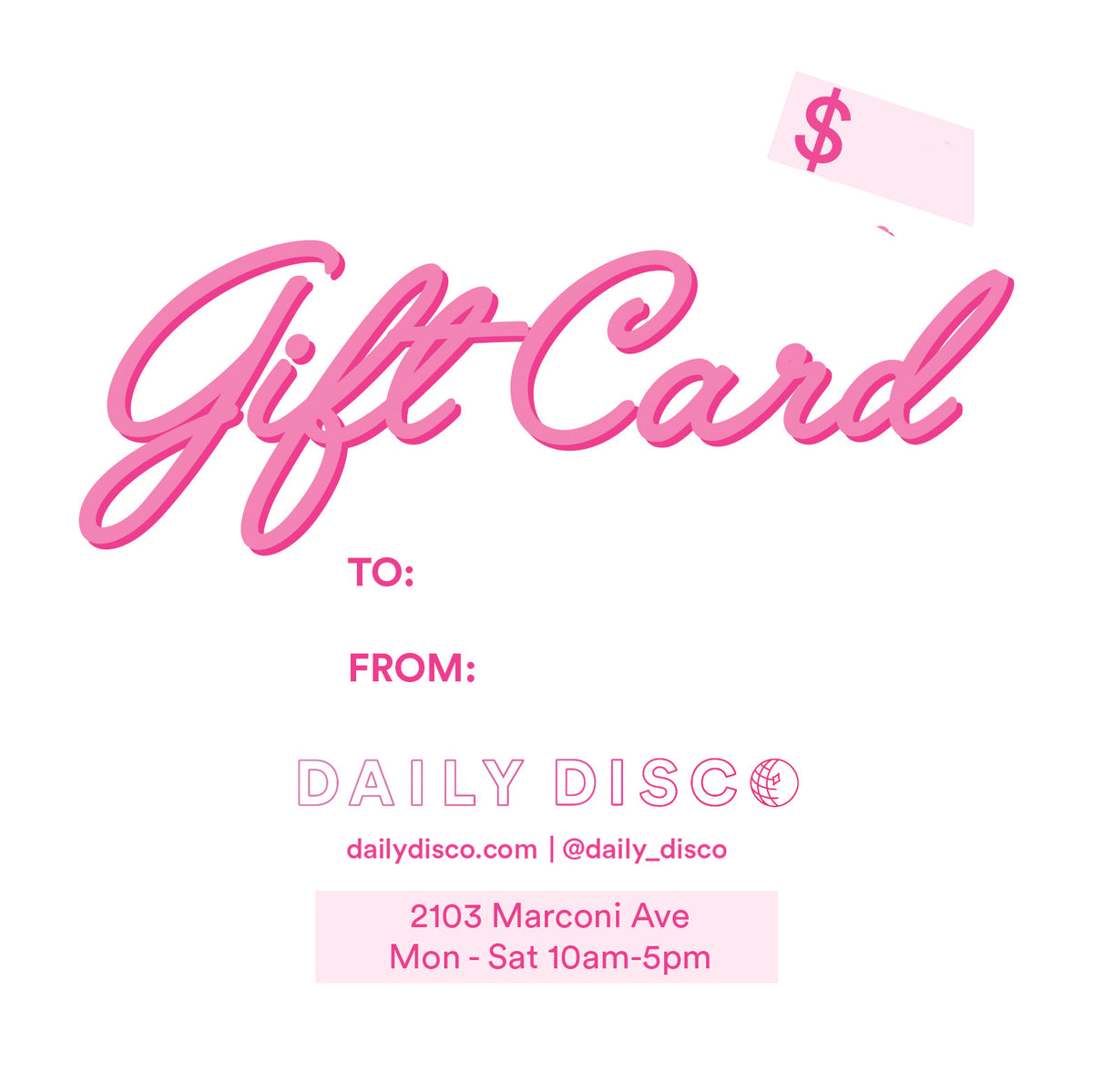 Gift Card - Daily Disco