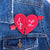 Custom Best Friends Patch | Half Hearts - Abbey Eilermann
