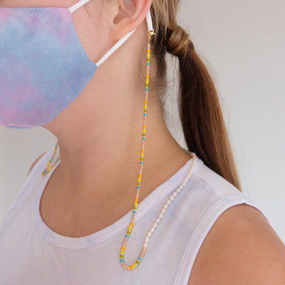Rainbow Beaded Mask Chain