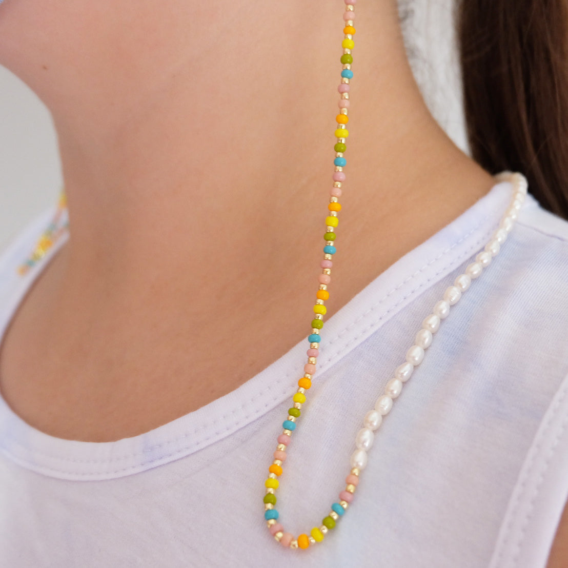 Rainbow Beaded Mask Chain - Daily Disco