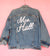 Custom Bride Chainstitch Embroidery | Wedding Denim Jacket - Abbey Eilermann
