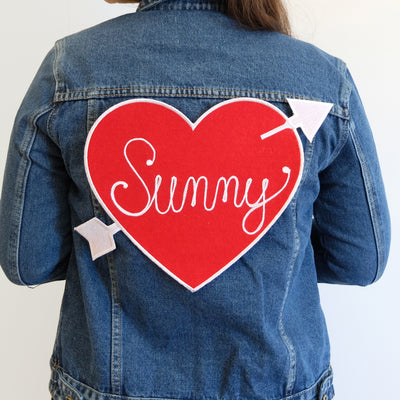 Custom Heart Back Patch Personalized - Abbey Eilermann