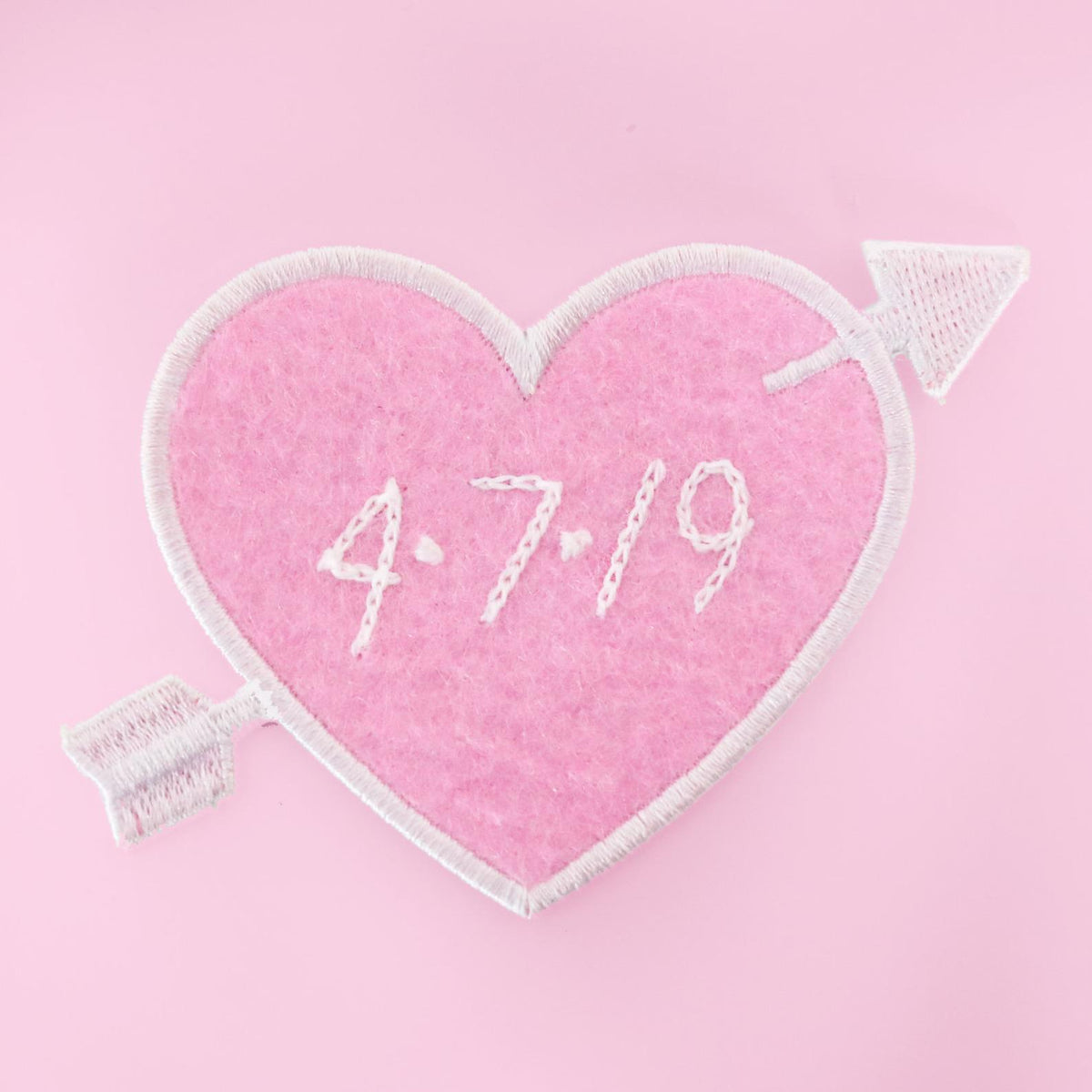 Custom Pink Heart Patch - Daily Disco