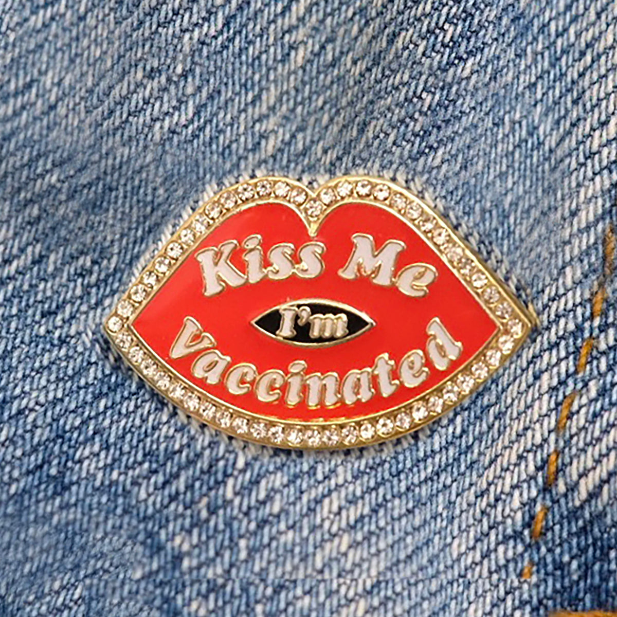 Kiss Me I'm Vaccinated Pin- PREORDER