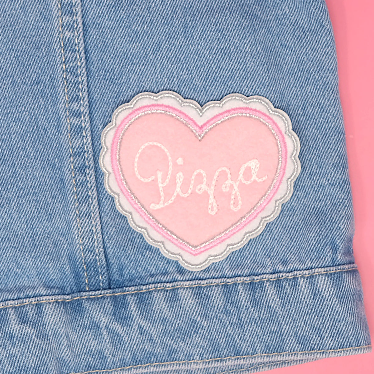 Custom Scalloped Heart Patch