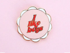 Boy Crazy Pin / Enamel Pin / I Like Boys Pin / Fun Enamel Pin / Enamel Pin Gift - Abbey Eilermann