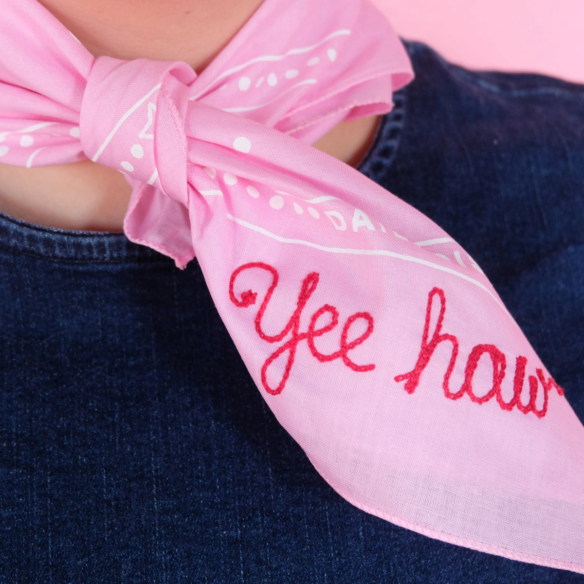 Pink Disco Bandana Personalized - Abbey Eilermann