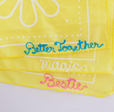 Yellow Future is Bright Bandana Personalized - Daily Disco