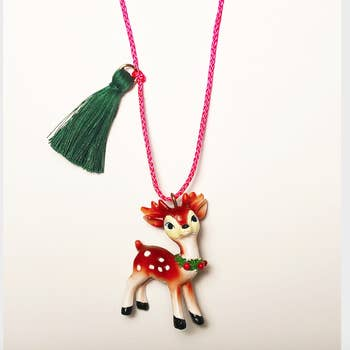 Gunner And Lux Reindeer Kids Necklace
