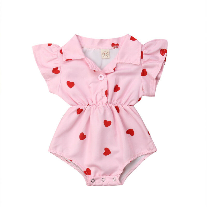 Pink Heart Romper - Daily Disco