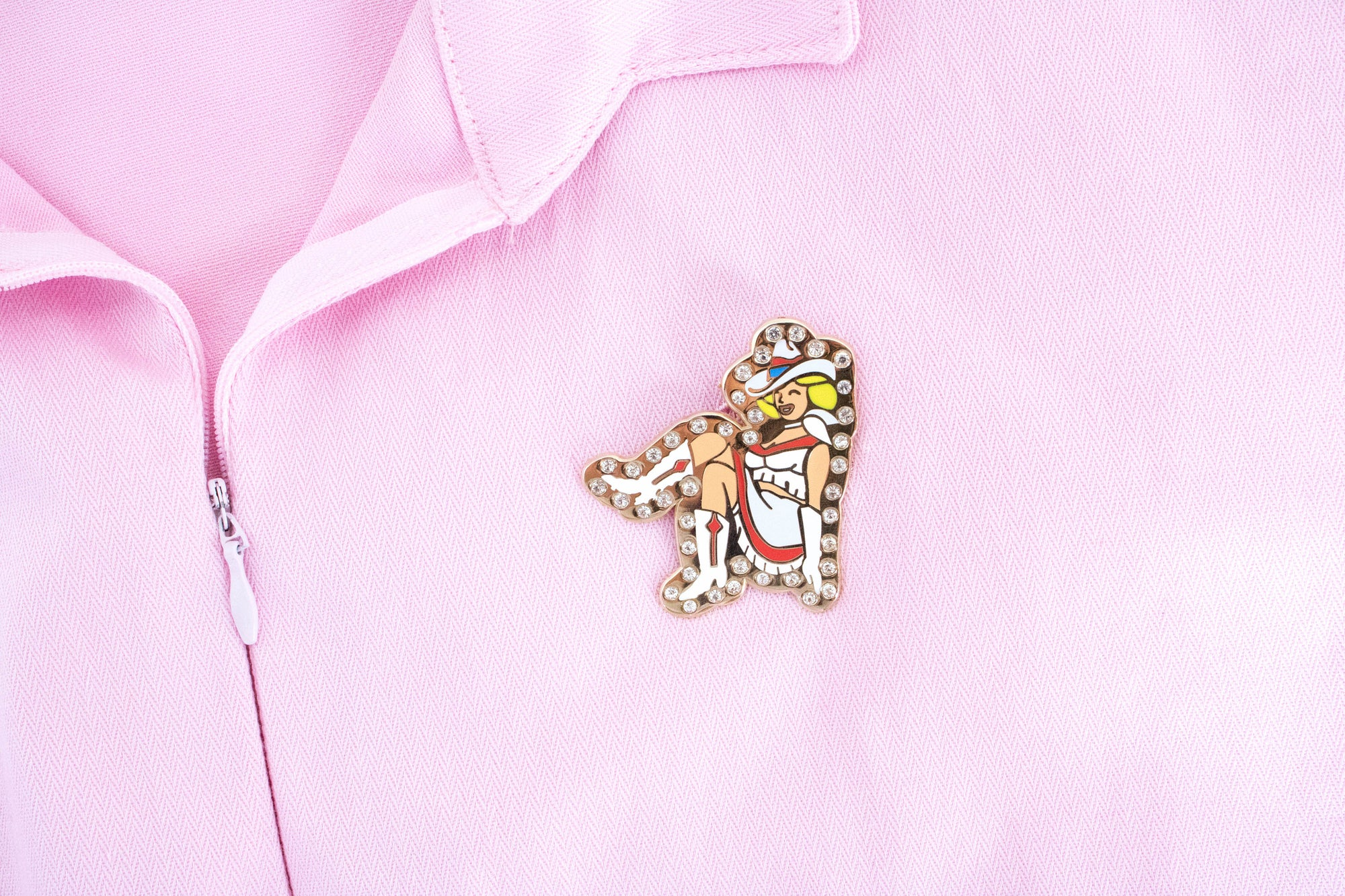 Rhinestone Cowgirl Pin - Abbey Eilermann