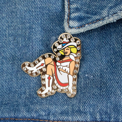 Rhinestone Cowgirl Pin - Daily Disco