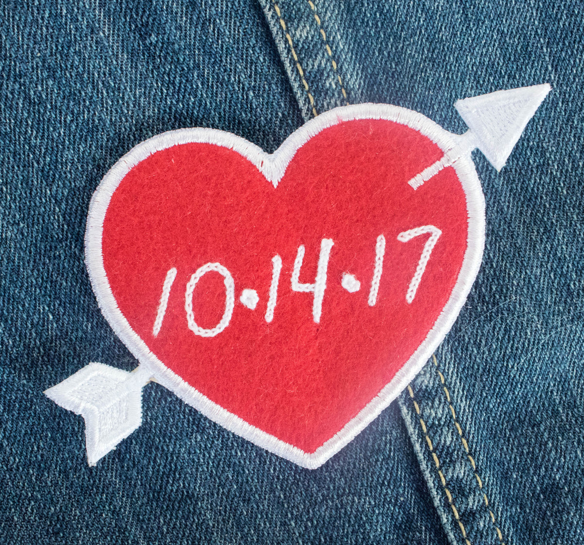 PREORDER Custom Red Heart Patch Personalized - Daily Disco