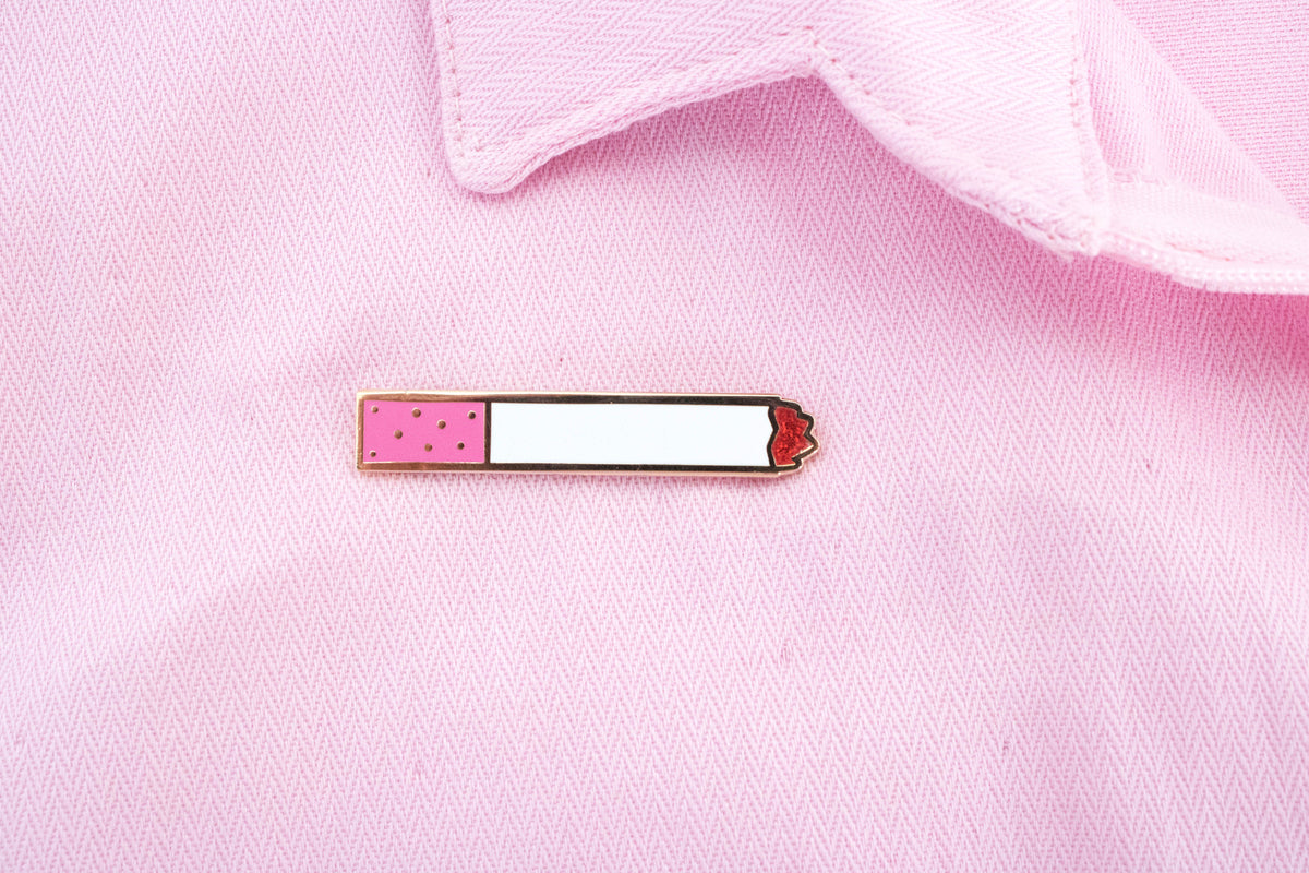 Pink Cigarette Pin - Daily Disco
