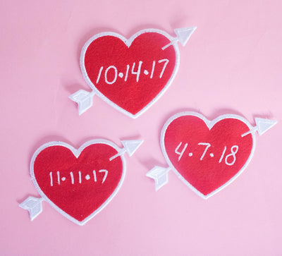 Custom Red Heart Patch Personalized - Daily Disco
