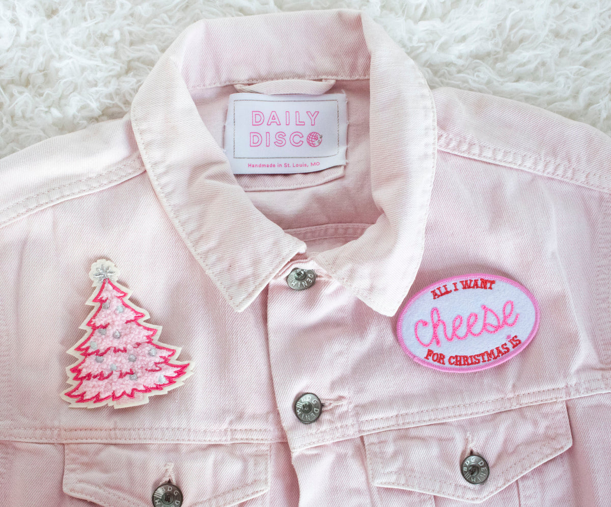 Pink Christmas Tree Patch - Daily Disco
