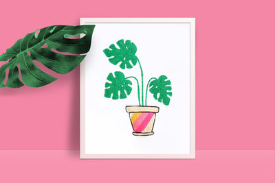 Monstera Plant Print - Daily Disco