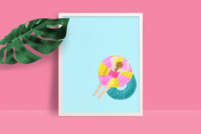 Swimmer Art Print - Daily Disco
