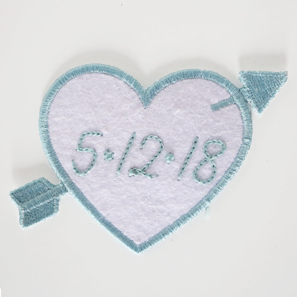 Custom White Heart Patch Personalized - Daily Disco