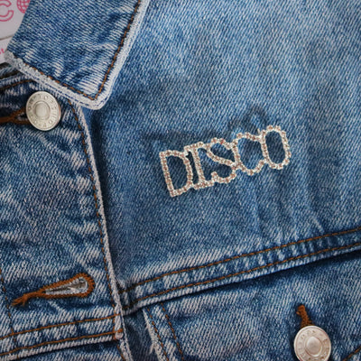 DISCO Rhinestone Pin - Daily Disco
