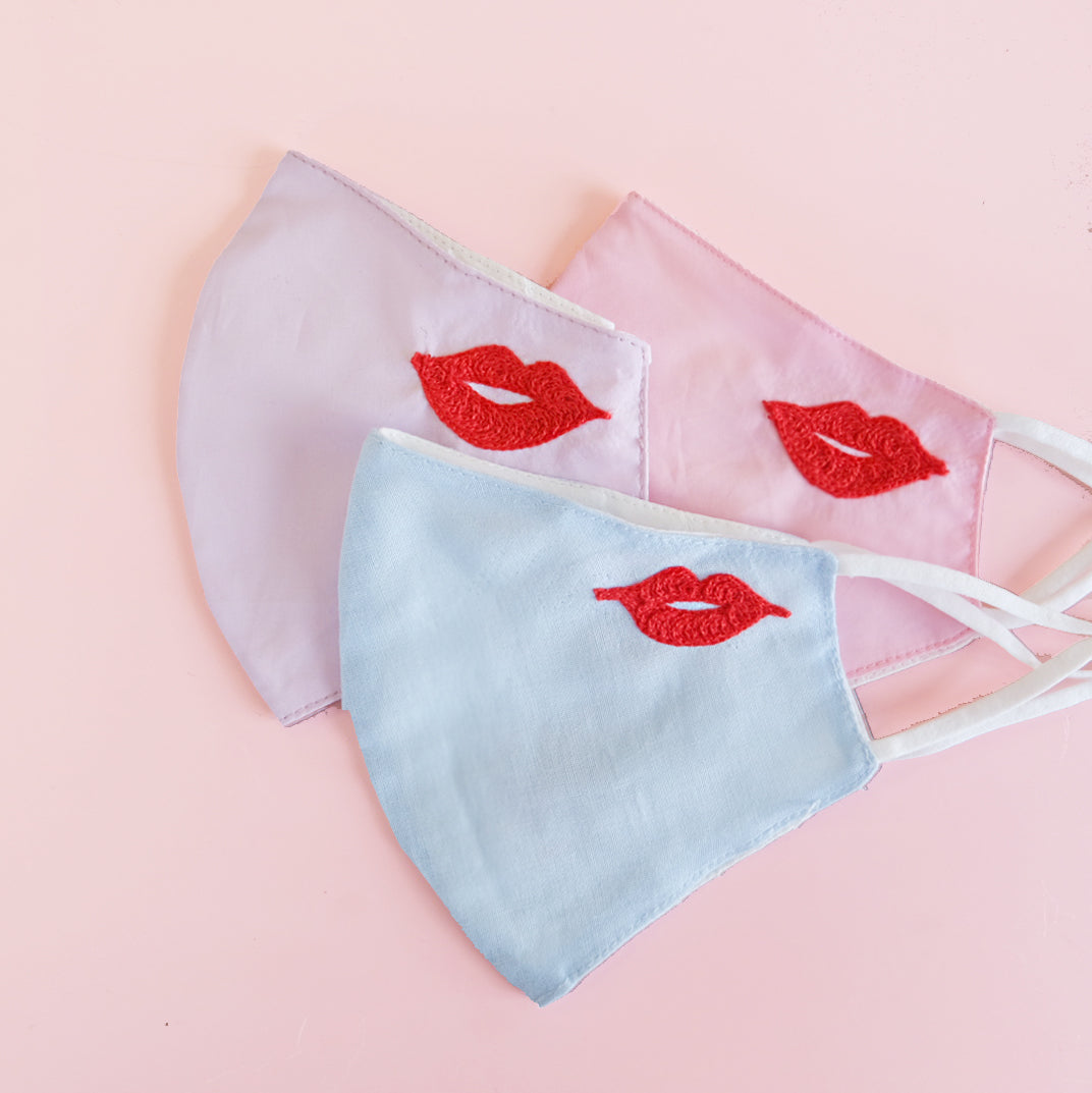 Lip Embroidery Mask - Daily Disco