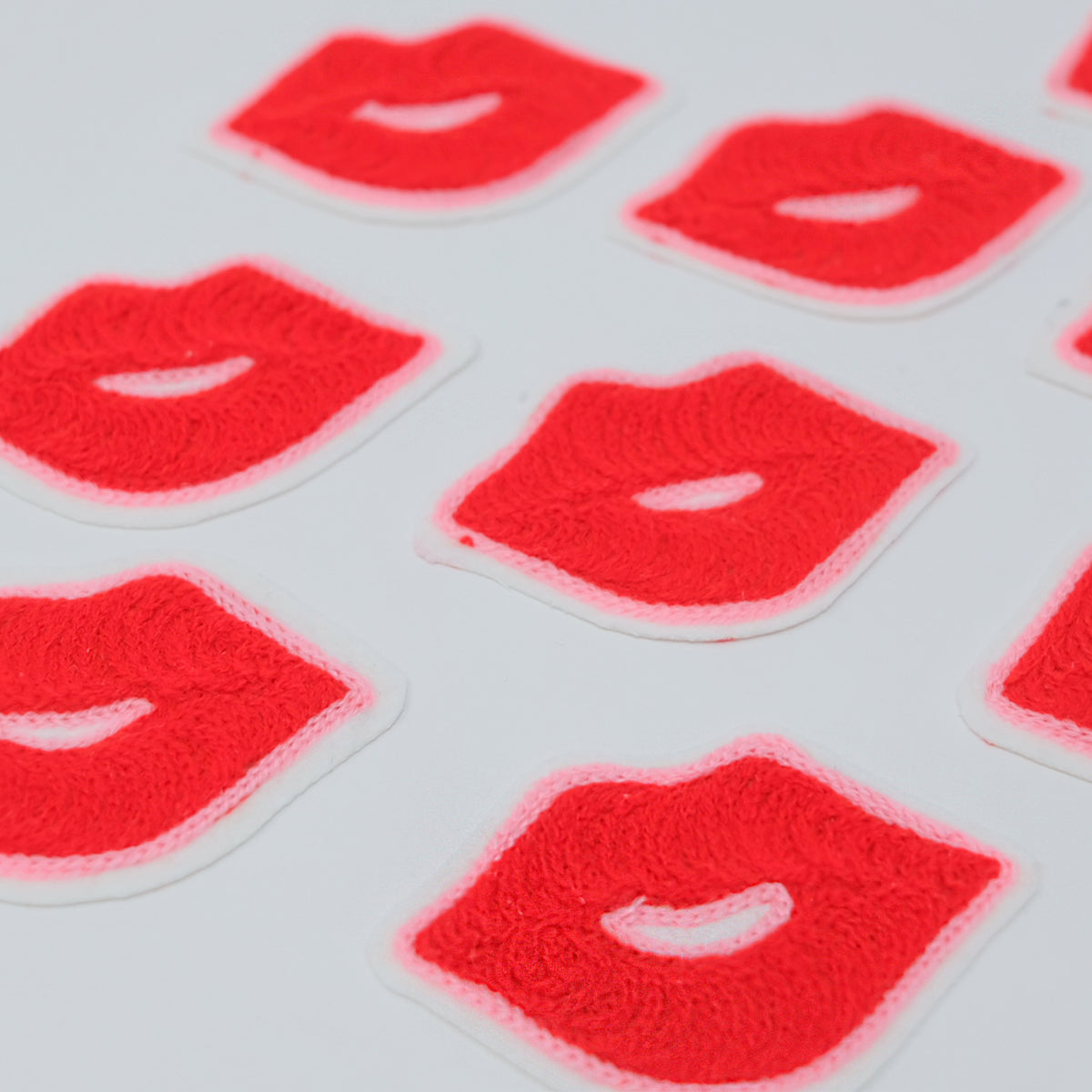 Chainstitch Lip Patches