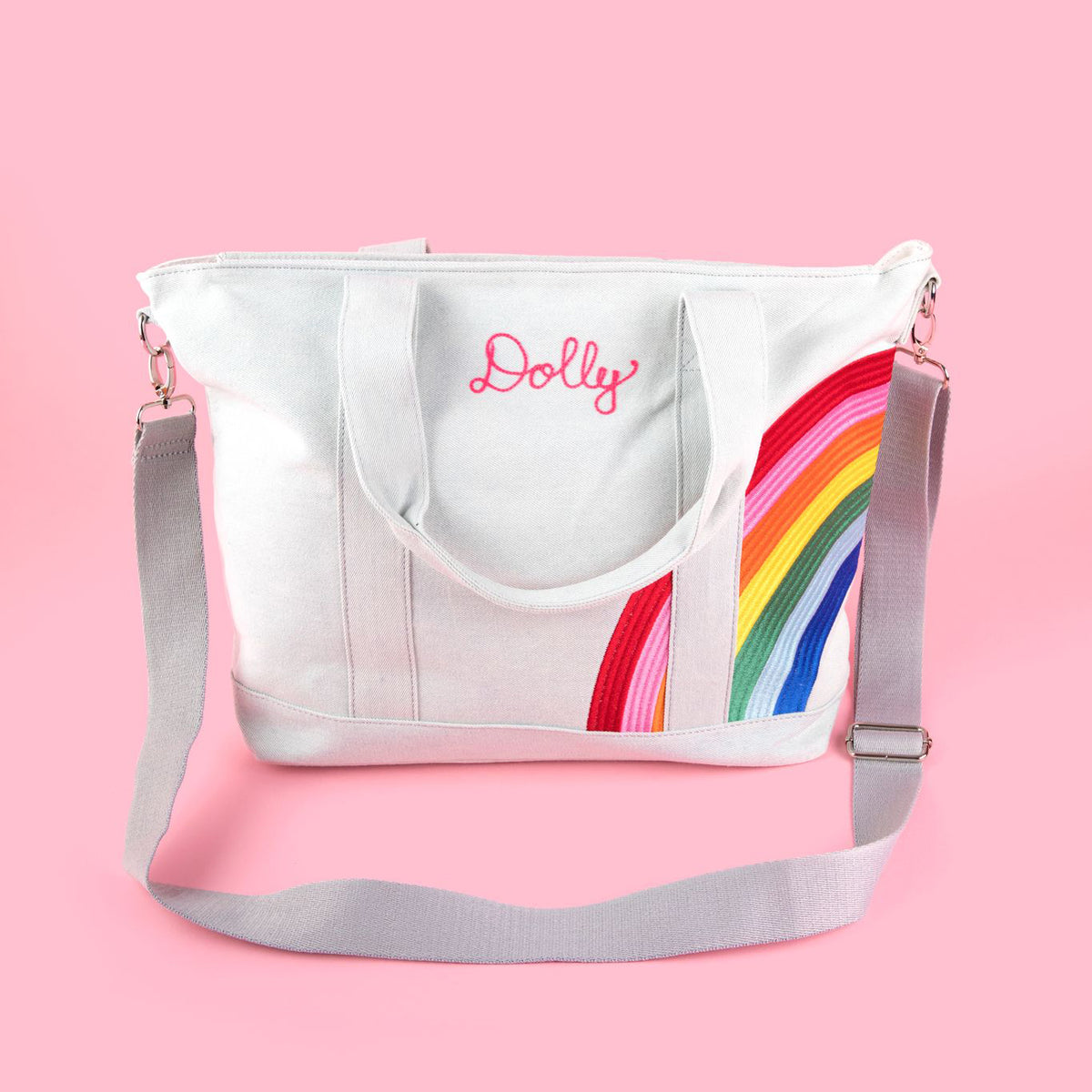 Small Rainbow Personalized Tote Bag