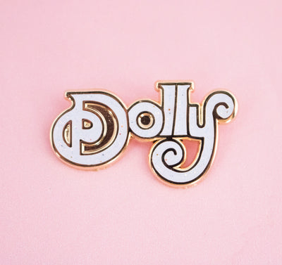 Dolly Parton White Pin - Daily Disco