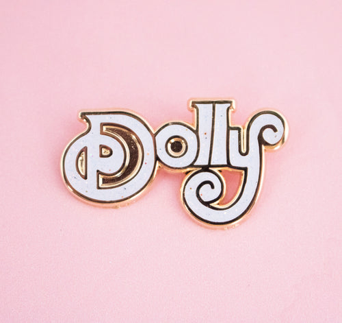 Dolly Parton White Pin - Abbey Eilermann
